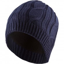 Cable Knit Beanie - Blue